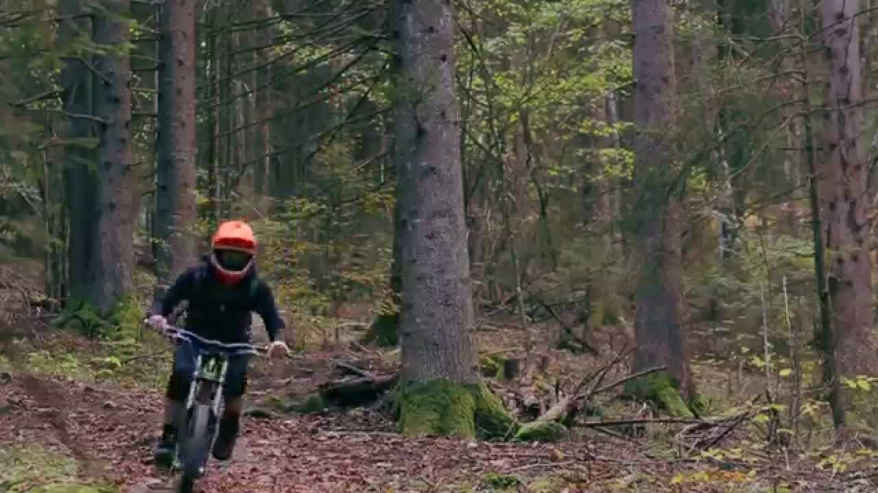 Stephen Brullé mtb freeride in Switzerland using RAHOX brake pads