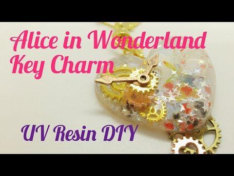 UV Resin DIY Alice in Wonderland Key Charm May's Elves Box 2018