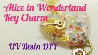 (PG13)UV Resin DIY Alice in Wonderland Key Charm May's Elves Box 2018