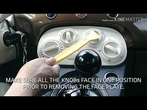 FIAT 500. HOW TO REMOVE THE CLIMATE CONTROL FACE PLATE AND DASHBOARD