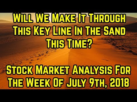 Will we make it through the key line in the sand this time- Stock market analysis for week of 7/9/18