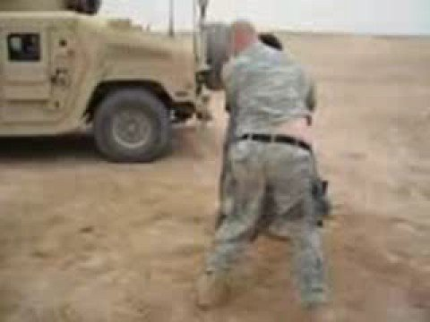 US Soldier and Iraqi fighting  ( nice guys )
