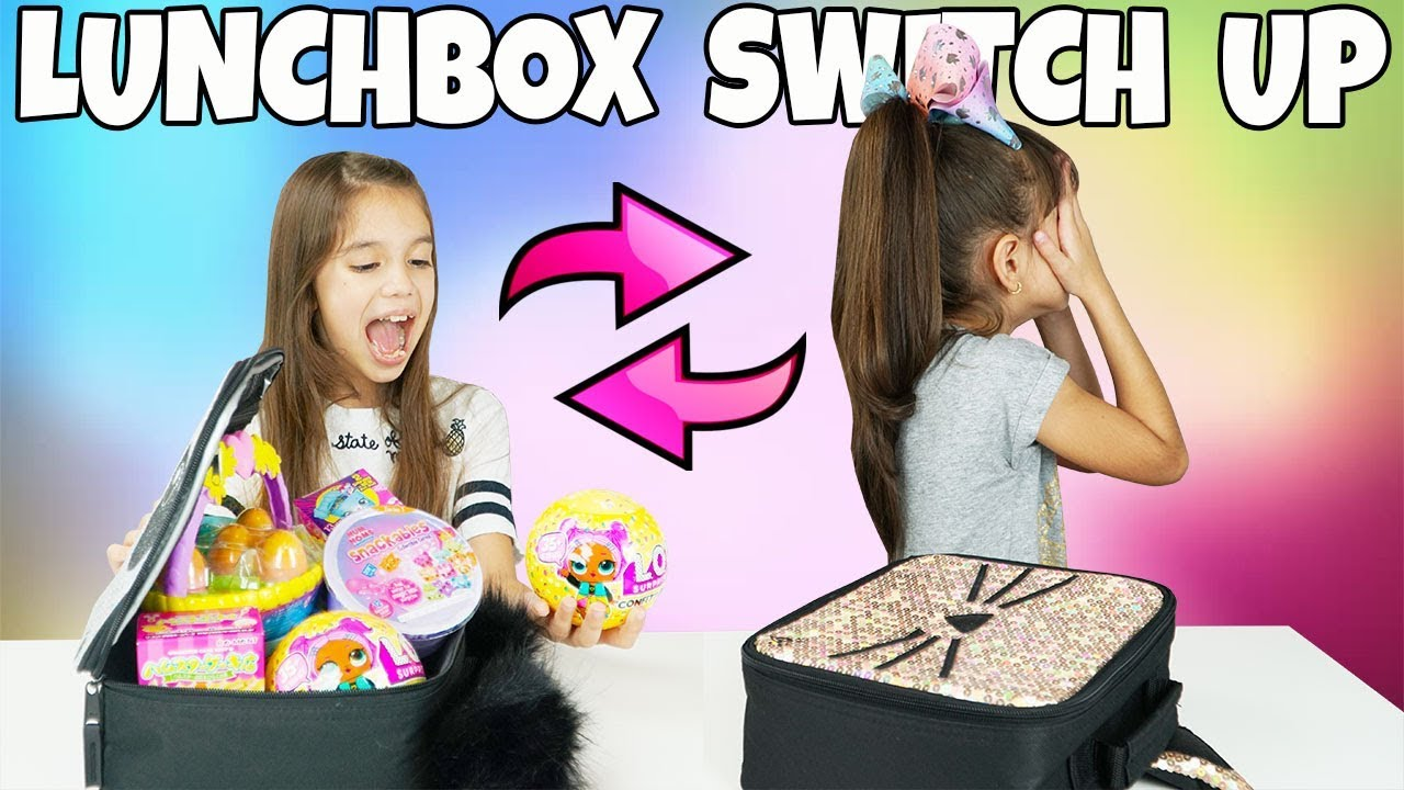 Switch It Up Toys : The lunchbox switch up challenge with surprise toys youtube