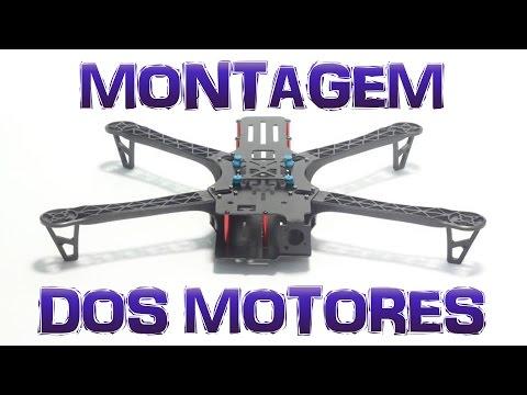MONTANDO um DRONE FPV BOM e BARATO (TBS DisCOVER) - Vídeo 02 - Montagem dos MOTORES