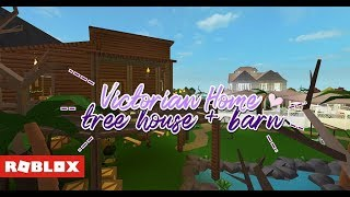 Roblox Bloxburg - Victorian Home, Treehouse, Barn [Tour]