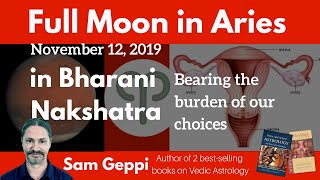 Full Moon in Aries - Bharani Nakshatra - Tuesday November 12