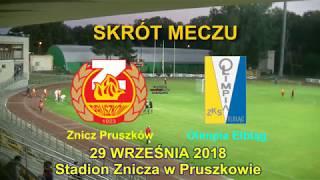 SKRÓT MECZU: Znicz Pruszków - Olimpia Elbląg