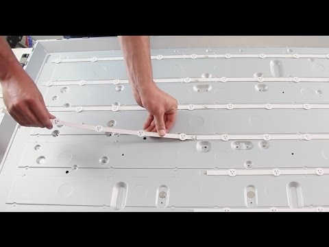 LG 47LN & Vizio E470i-A0 No Backlights - LED Strip Replacement Tutorial - Fixing Bad LEDs