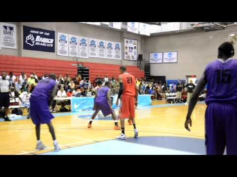 Andray Blatche Of Brooklyn Nets With Reverse Dunk At Nike Pro City