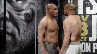 Mike Tyson torna sul ring: eccolo alla prova del peso insieme allo sfidante Roy Jones jr.