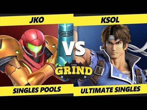 Smash Ultimate Tournament -  ksol (Richter, Isabelle) Vs.  JKO (Samus) The Grind 55 SSBU Pools