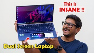 First DUAL Screen Laptop in India from Asus !!