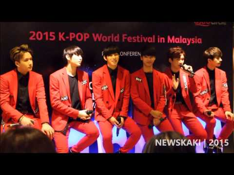 VIXX Hyuk & Ken speak in Malay - 2015 KPOP World Festival in Malaysia with VIXX