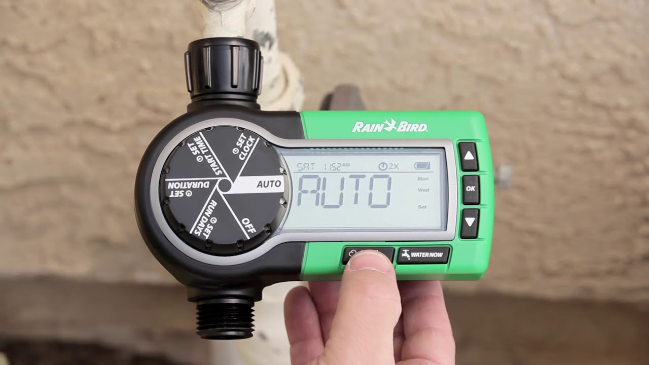 Rain bird electronic garden hose sprinkler timer youtube sciox Choice Image
