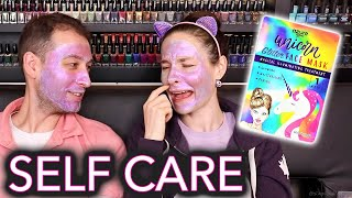 "Testing ""holographic"" face masks (couples therapy: what he really thinks of me)"