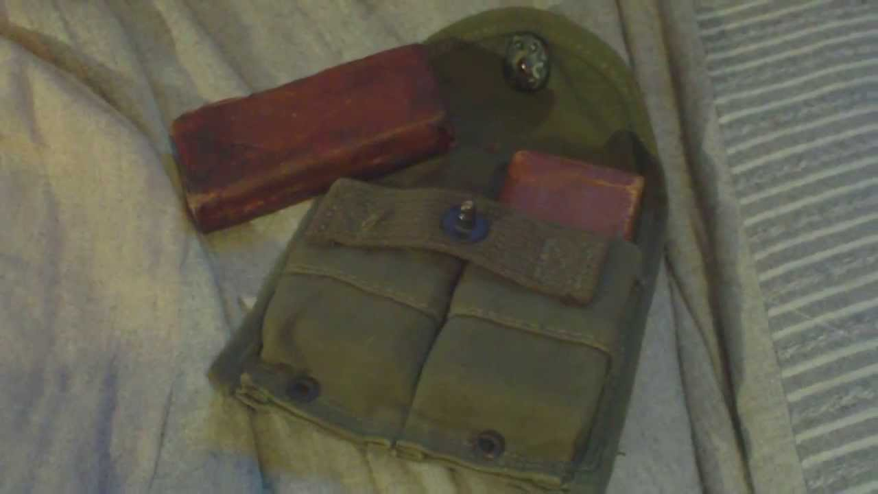 World War Two American 30 Cal Carbine Magazine Pouchtype 74p 142