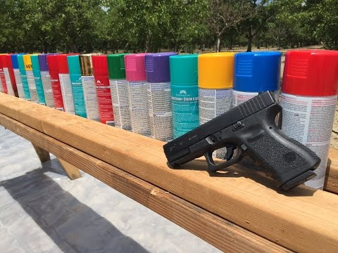 how many spray paints does it take to stop a bullet?