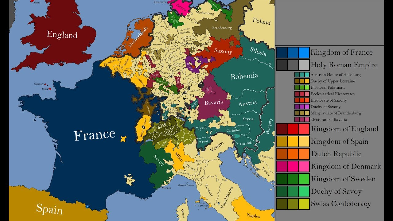 The History of Western Europe: Every Year - YouTube