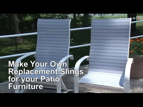 patio chair repair vinyl strap wedding covers hire darlington replacement sling cover for furniture make your own youtube