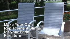 Replacement Sling Cover for Patio Furniture -- Make Your Own