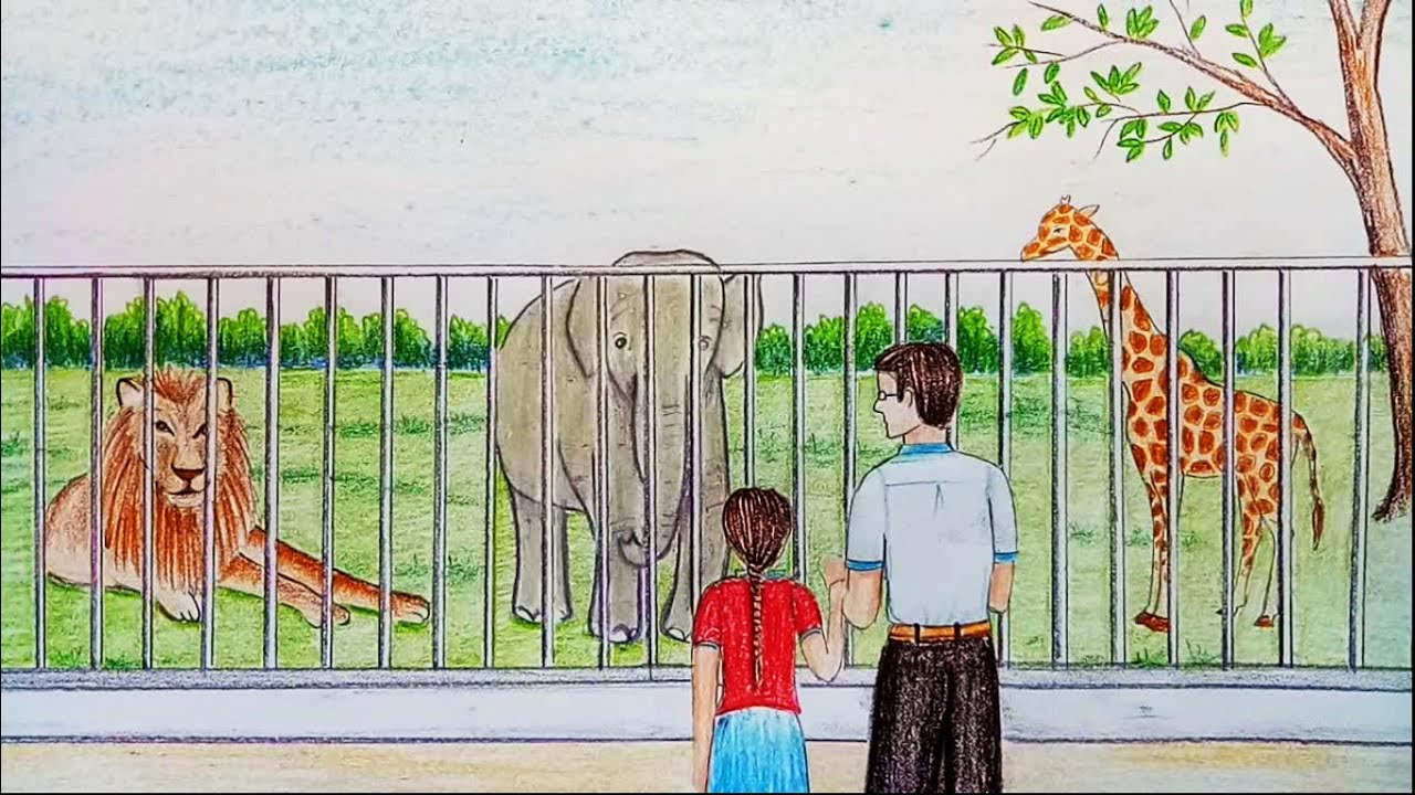 How to draw zoo step by step farjana drawing academy