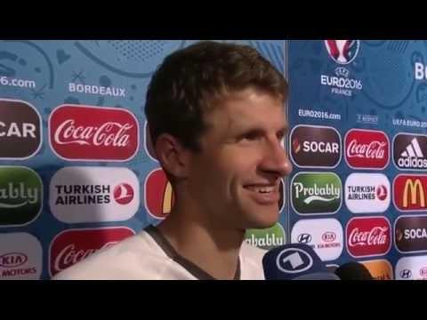 Thomas Müller Interview: Unser Ziel war im Halbfinale auszuscheiden! Euro 2016 HD