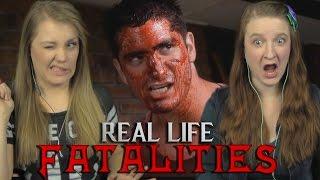 REAL LIFE MORTAL KOMBAT FATALITIES | Girls REACT | 16