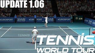 Tennis World Tour - UPDATE 1.06 - Roger Federer vs Dominic Thiem - PS4 Gameplay