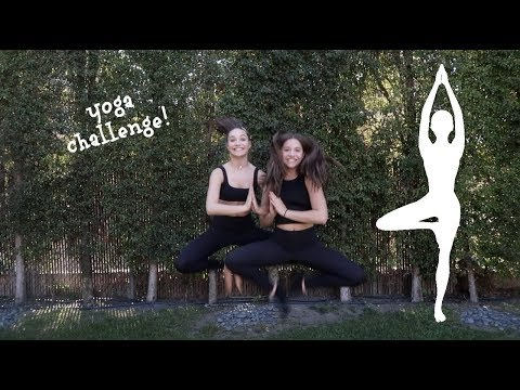YOGA CHALLENGE pt. 2 !!  with my sister maddie!