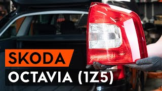 How to replace Brake rotors kit on SKODA OCTAVIA Combi (1Z5) - video tutorial
