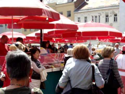 Croatia,Zagreb,Dolac Market...