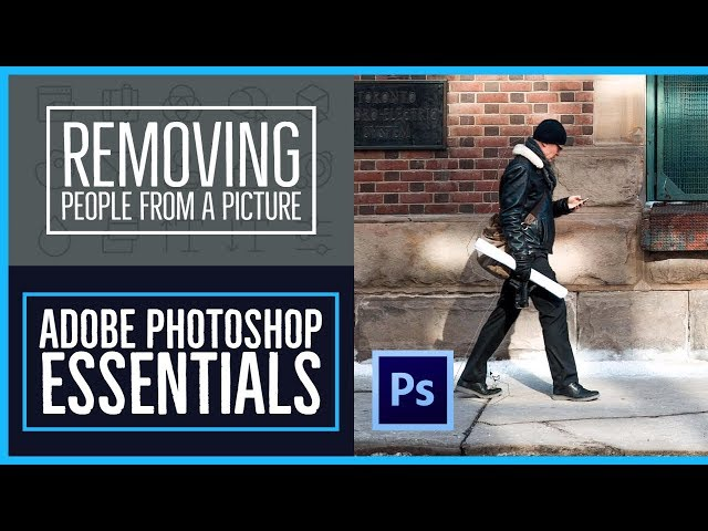 How to remove people & text from a picture - Photoshop CC Essentials [53/86]