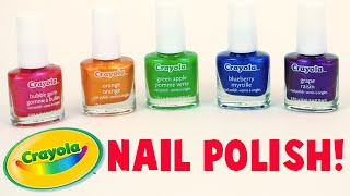 Crayola Scented Nail Polish - Bubble Gum, Orange, Green Apple, Blueberry, Grape