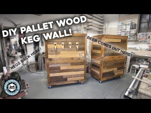 DIY Pallet Wood Beer Wall!