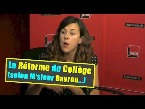 La réforme du Collège: pour ou contre, M. Bayrou ?