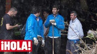 Rafa Nadal, un voluntario más en las labores de limpieza tras las inundaciones en Mallorca