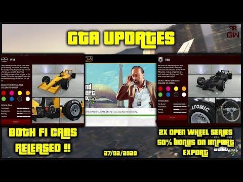GTA Online F1 Cars RELEASED ! 1.5X Import Export & Discounts!! Weekly Updates Casino Heist DLC 2020