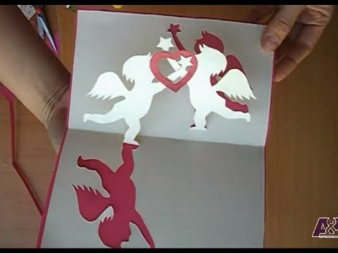 Valentines Day Pop Up Card Tutorial Angels Holding A Heart YouTube – Pop Up Valentines Day Card