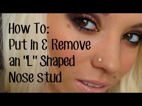 How To Put In Take Out An L Shaped Nose Stud Youtube