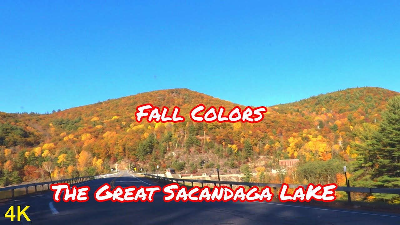 Spectacular Fall Colors on The Great Sacandaga Lake - Scenic Driving Tour (2019) 4K