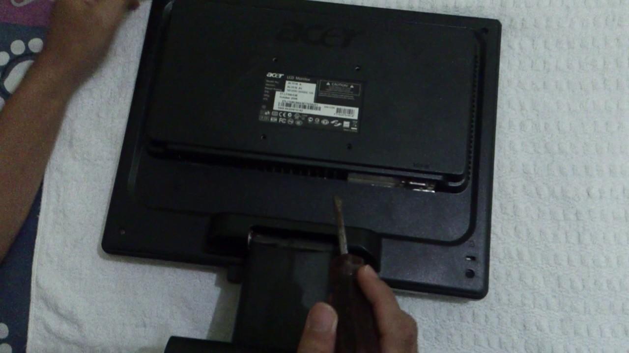 Cara Membuka Melepaskan Dudukan Kaki Monitor Acer Youtube