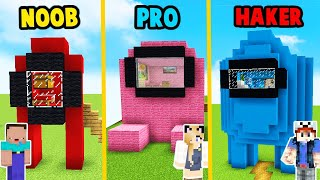 MINECRAFT - AMONG US DOMEK CHALLENGE | NOOB vs PRO vs HAKER | Vito vs Bella