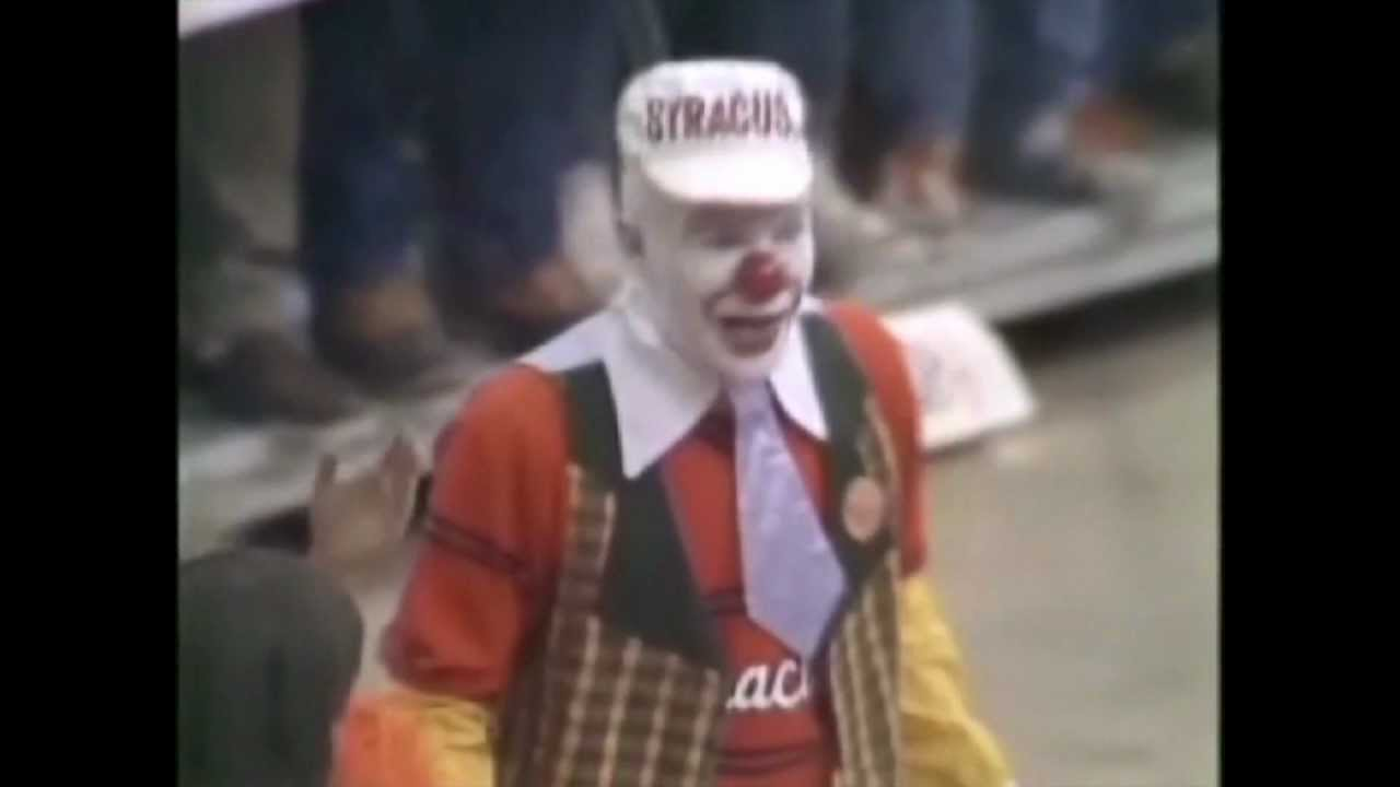 Syracuse University Clown Mascot 1982 Youtube