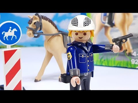 Playmobil Toy Film - 👮 Mounted Police and Horse Set for Kids