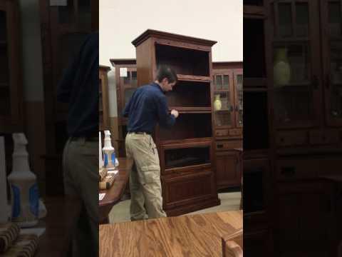 Amish 5-Stack Barrister Bookcase Demonstration