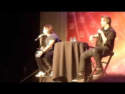 Sebastian Stan speaking Romanian to a fan (SLCC15)