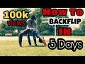 How To Back Handspring Backflip In 5 Days HINDI mp3