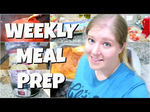 LARGE FAMILY MEAL PREP | EASY FOODS TO PREP AHEAD OF TIME