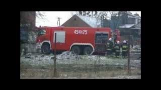 Pożar Obory w Poniszowicach 03/02/2013 Relacja Wideo