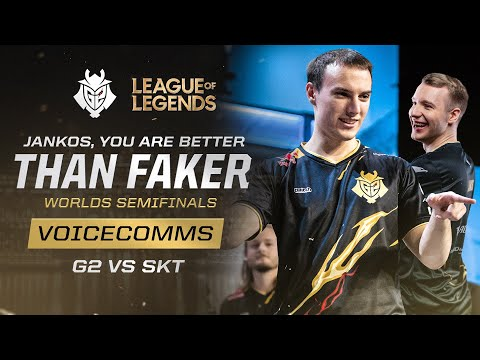 Jankos, You Are Better Than Faker |  SKT Vs G2 Worlds 2019 Semifinals Voicecomms